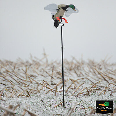Avery Outdoors Banded Mad Mallard Spinning Wing Motion Decoy 4' Pole Stand