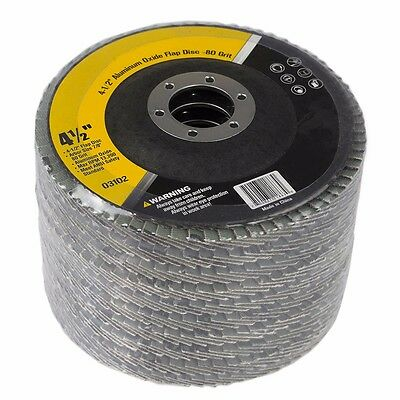 "4.5"" X 7/8"" Sand Paper FLAP DISC SANDING GRINDING CUTTING 80 GRIT PACK 10"