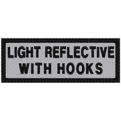 Custom Embroidered  Reflective Motorcycle Name Patch With Hook Attachments