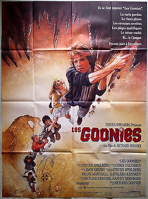 1985 THE GOONIES Steven Spielberg Richard Donner French 47x63 movie poster