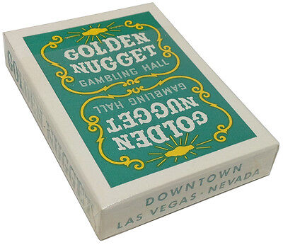 Casino Playing Cards - Golden Nugget Hotel Vintage Used Green Deck Free Shipping