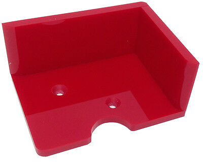 Discard Tray - New 2 Deck Casino Blackjack Dealers Solid Red Open Top Free S/h *