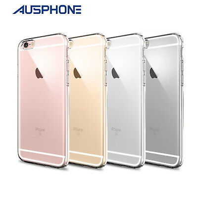 iPhone 6S & 6 Ultra Thin CRYSTAL Transparent Clear Slim Gel Case Cover for Apple