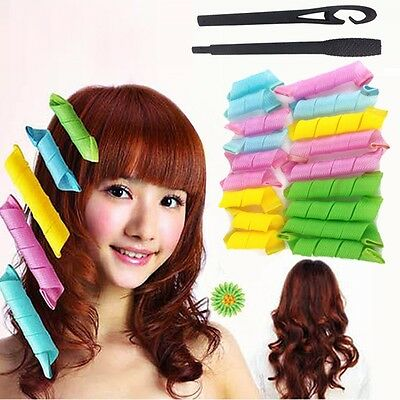 18Pcs Magic Hair Curlers Curl formers Spiral Ringlet Leverag rollers