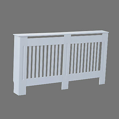 HOMCOM Radiator Cover Slatted MDF Cabinet Lined Painted Grill Wooden