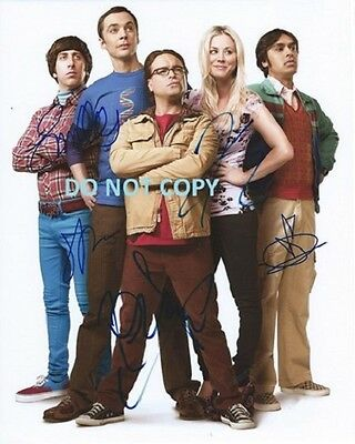 Big Bang Theory - Hand Signed By The 5  Main Cast With Coa Rare Autograph Photo