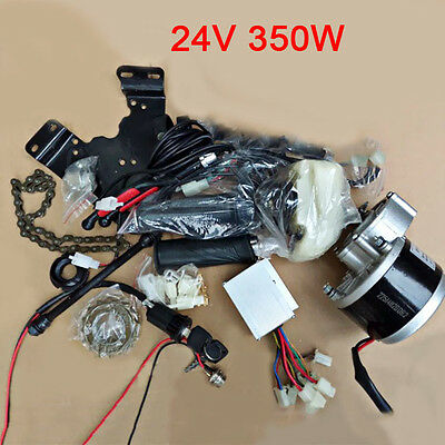24V 350W Electric Bike Conversion Kit DIY Geared Brush Motor Cycling Accessories