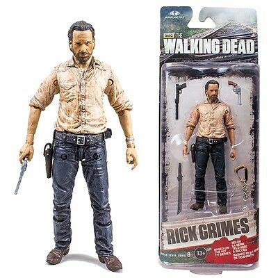"""McFarlane Toys The Walking Dead Rick Grimes TV Series 6 Figure 5"""" New In Package"""