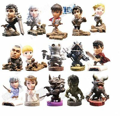 Anime_Figure_Toy Chara Heroes Berserk Golden Age 15pcs FREE SHIPPING