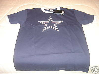 NFL Dallas Cowboys Ringer Team Logo T Shirt M NWT New