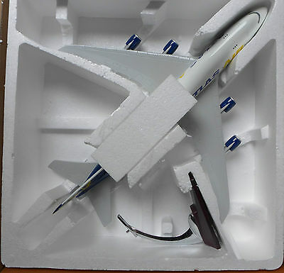 ATLAS AIRLINE VERY LARGE PLANE MODEL  WITH STAND APX 49cm SOLID RESIN