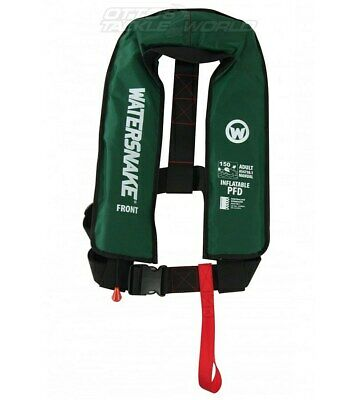 Watersnake Inflatable PFD Level 150/150N Manual Adult Life Jacket Green @ Otto's