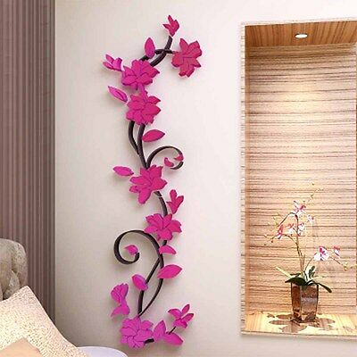 3D Flower DIY Wall Sticker Removable Vinyl Quote Decal Mural Home & Room Decor
