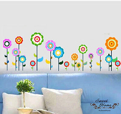 Flower Pops Wall Stickers Decal Vinyl Removable Decor Kids Nursery Art Home