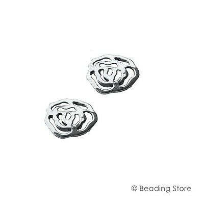 2 or 20 925 Sterling Silver Floral Flower Link Connectors Drops Spacer Findings