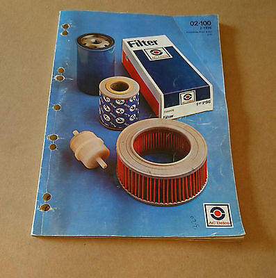 Ac Delco Filters Parts Catalogue  1975