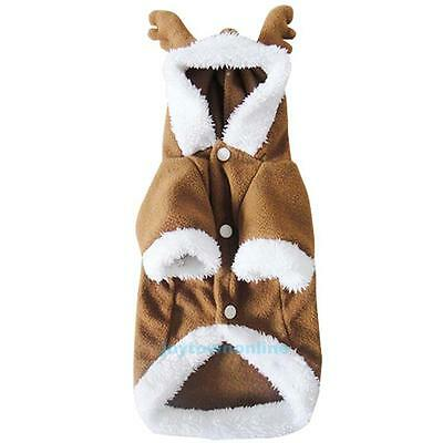 Pet Dog Cat Puppy Sweater Hoodie Christmas Lovely Apparel Warm Coat Soft Cotton