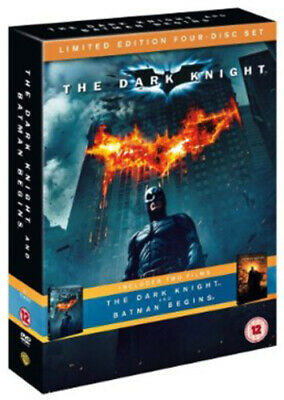 Batman Begins/The Dark Knight DVD (2008) Christian Bale, Nolan (DIR) cert 12