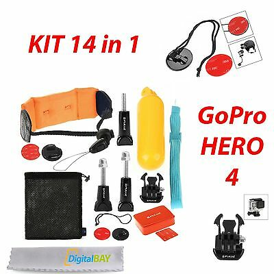 Kit Combo Accessori 14In1 Surf Accessoristica Per Gopro Go Pro Hero4 Session