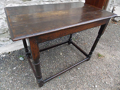 Antique original period oak SIDE TABLE 17th or early 18th Century rustic