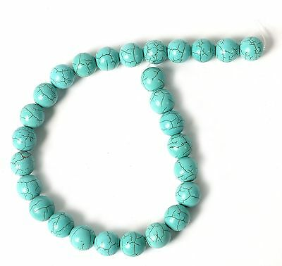 Pack of 10 Nugget Shaped Turquoise Howlite Beads for Jewellery Making B39L