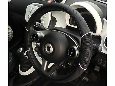 Car Steering Wheel Cover Carnaby Black Soft Grip Universal Design Sleeve Glove
