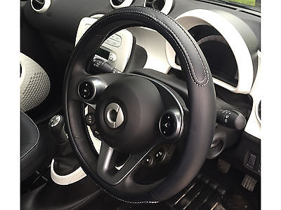 Car Steering Wheel Cover Soft Grip Universal Black Chiswick Design Sleeve Glove