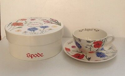 Spode Flowers Of The Month Cup And Saucer - August