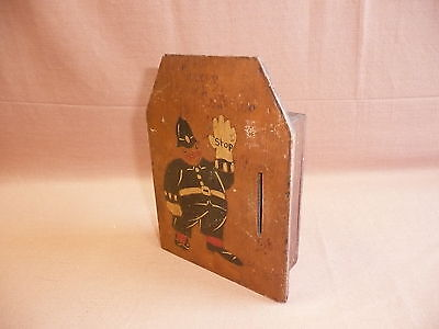 Vintage Wooden Money Box  Poker work