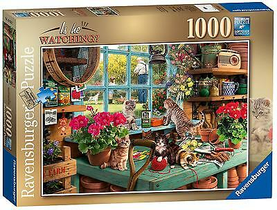 """Ravensburger 19552 """"Is He Watching?"""" Jigsaw Puzzle (1000-piece) NEW"""