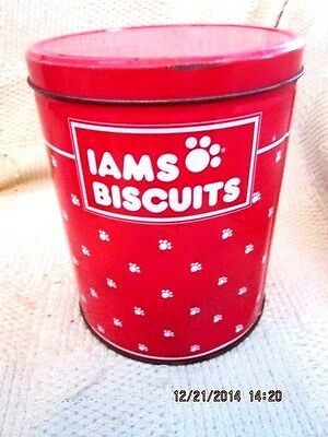 Iams Biscuits - Dog Biscuits  Empty Tin