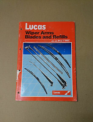 Lucas Wiper Arms Blades And Refills Catalogue 1985