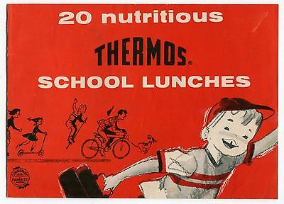 """Old Promo Booklet: """"20 Nutritious THERMOS School Lunches"""""""