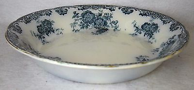 """ALFRED MEAKIN china GLENMERE Blue-Green pattern Soup or Salad Bowl - 7-1/2"""""""