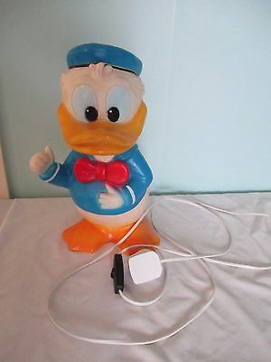 Vintage Disney's Donald Duck Table lamp Working light 1984 with long Power Cord