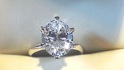 Oval Cut Solitaire Engagement  Ring 1.00ct.  Solid 14k White Gold   #4514