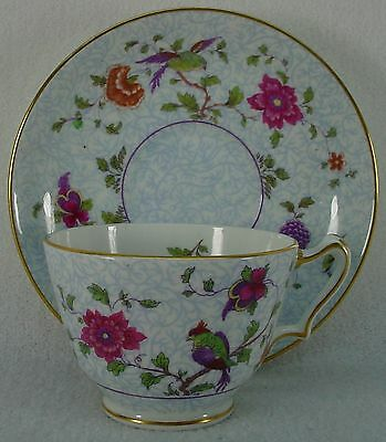 CROWN STAFFORDSHIRE china BIRD OF PARADISE F8393 pattern CUP & SAUCER Set