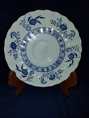 Vintage J. & G. Meakin England Saucer Classic White Blue Nordic Onion