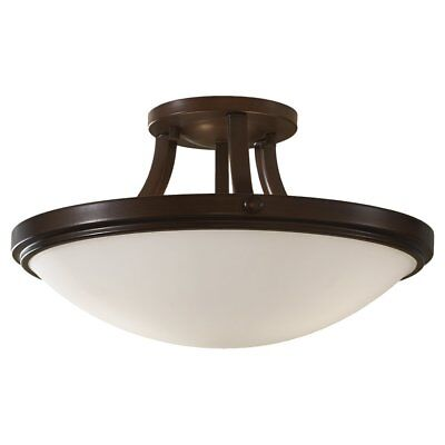 Used/Opened Macy's Feiss Bronze Ceiling Light SF28HTBZ Fixture
