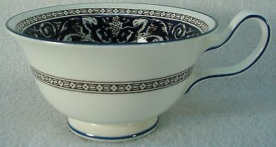 WEDGWOOD china FLORENTINE W1956 dark blue cobalt CUP only Peony 2-1/4""