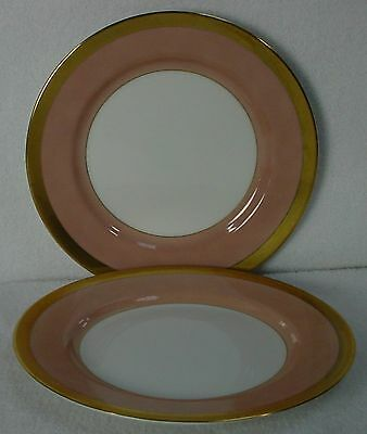 FITZ & FLOYD china VERSAILLES - DUSTY ROSE Bread & Butter Plate Set of Two (2)