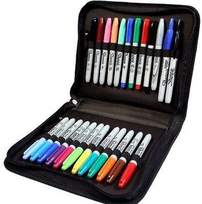 24 Pc Sharpie Marker Set with Zippered Storage Case