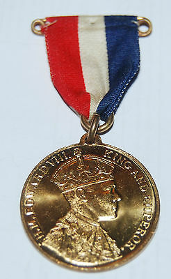 VINTAGE EDWARD VIII Coronation Medal - 12th May 1937
