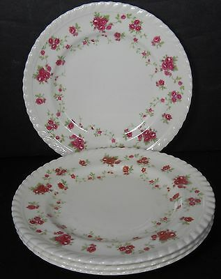 JOHNSON BROTHERS England china RAMBLER ROSE Bread Plate - Set of Four (4) crazed