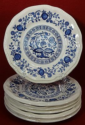 """KENSINGTON Staffords china COVENTRY BLUE pattern Bread Plate Set of Six (6) - 6"""""""