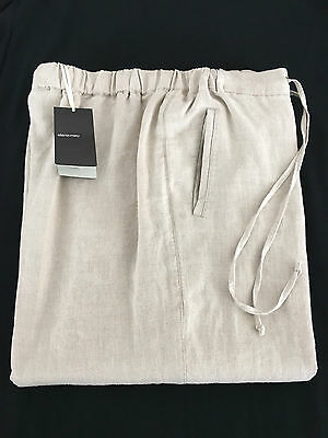 ELENA MIRO' women's trousers with elastic e zip cord 100% linen