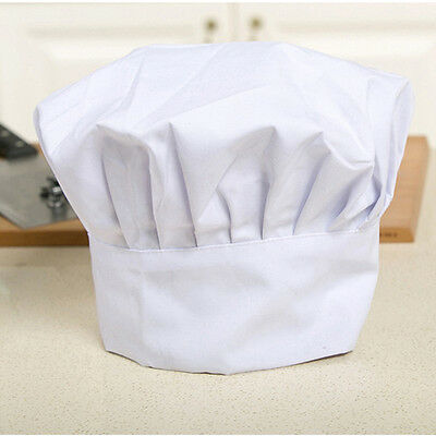 White Chef Hat Baker Adjustable Elastic Cap Cooking Baker Kitchen Restaurant