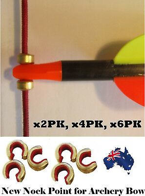x2,4,6pk Nock Point Clip String Archery Nocking Spot for Compound or Recurve Bow