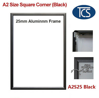 Clip Snap Frame A2 Square Corner /Poster Frame/Picture Black 25mm free shipping