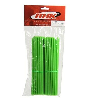 Kawasaki Kx125  -  Rhk Front & Rear Wheel Spoke Wraps Covers - Green